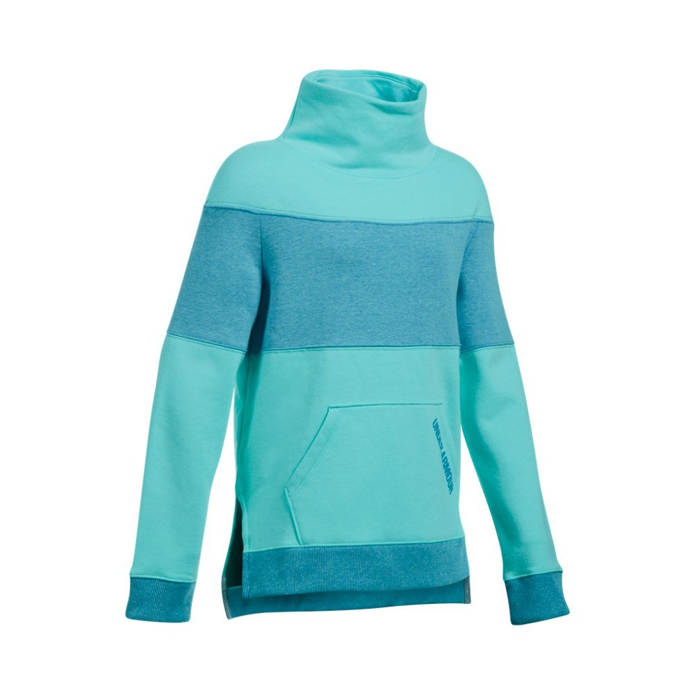 Under Armour Girls' Threadborne Fleece Slouchy Crew,Blue Infinity (942)/Blue Shift, Youth Small