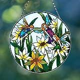 Bits and Pieces - Majestic 8'' Fairy Suncatcher - Beautifully Painted Art Glass Suncatcher