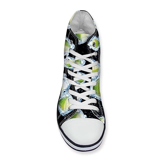 eb560b718df31 Amazon.com: Santiro 3D Printed Shoes Women Funky Graffiti High Top ...