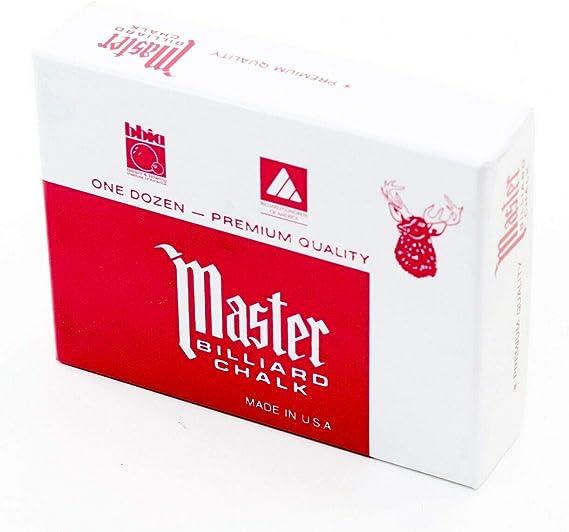 Original USA Tizas para billar Master, 12 unidades en caja (azul ...