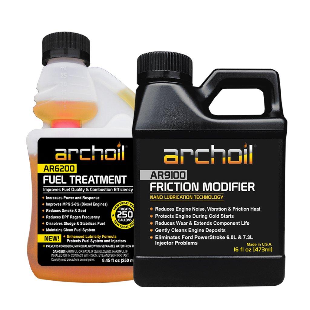 Archoil Starter Kit - 16oz AR9100 Friction Modifier + 8.45oz AR6200 Fuel Treatment by Archoil