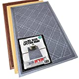 iPrimio Phthalate & BPA Free. XL Size Cat Litter Mat - Mesh Mat Catches Litter - Repels Odor & Liquid - Litter Free Floors. Extra Soft, Easy Clean Brand. Blue Gray Color.
