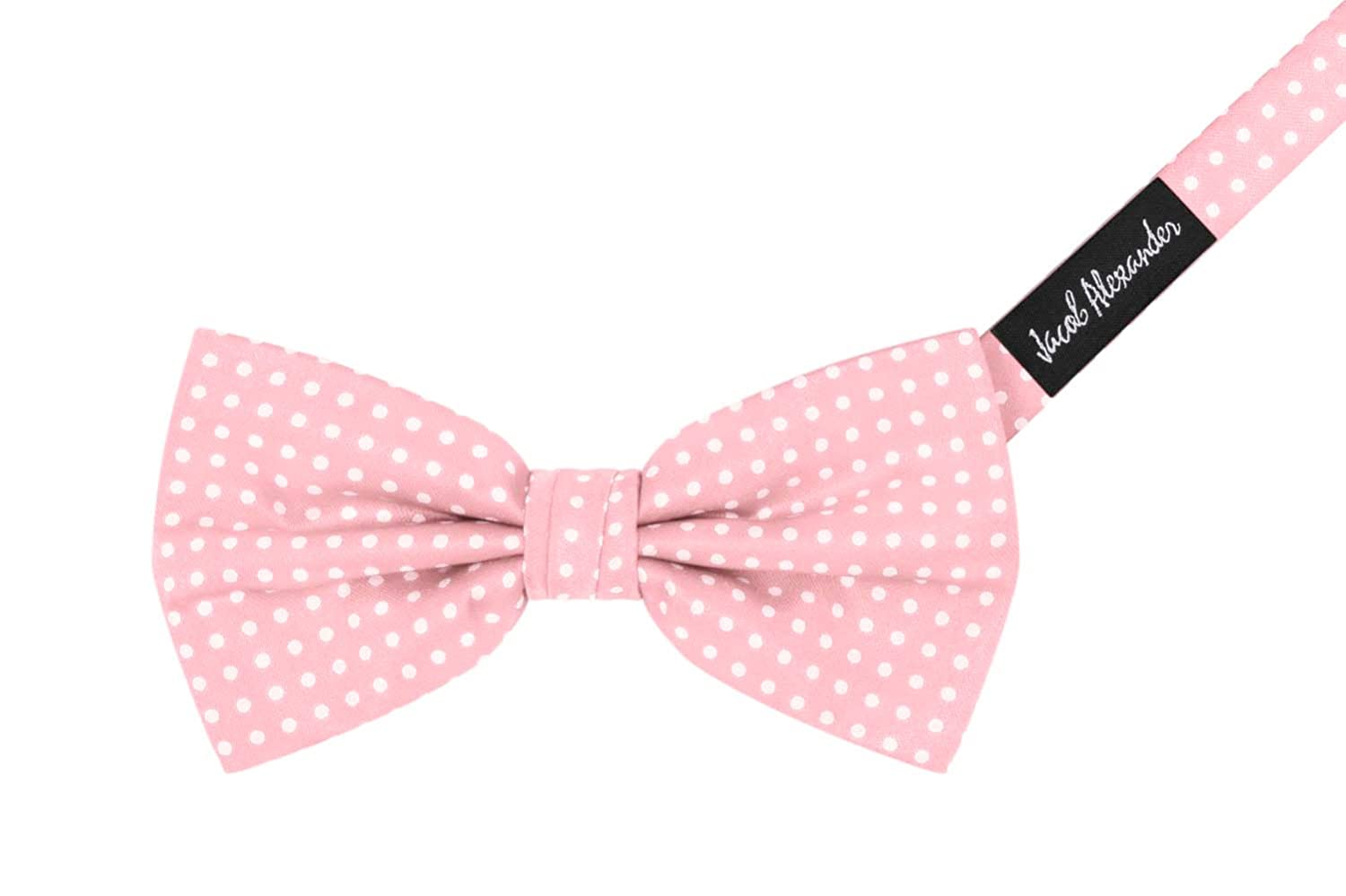 Jacob Alexander Matching Polka Dot Suspenders and Bow Tie - Champagne KIT059-055