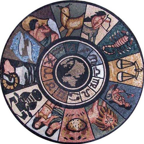 Marble Mosaic Stone Art Tile Wall Floor Zodiac