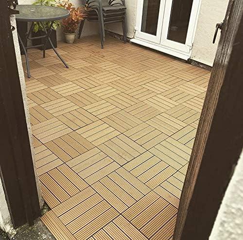 36/x entrelac/és Composite dalles de terrasse en bois/ jacuzzi /en teck Click-deck Patio 30/cm carr/é Deck pour carrelage jardin balcon