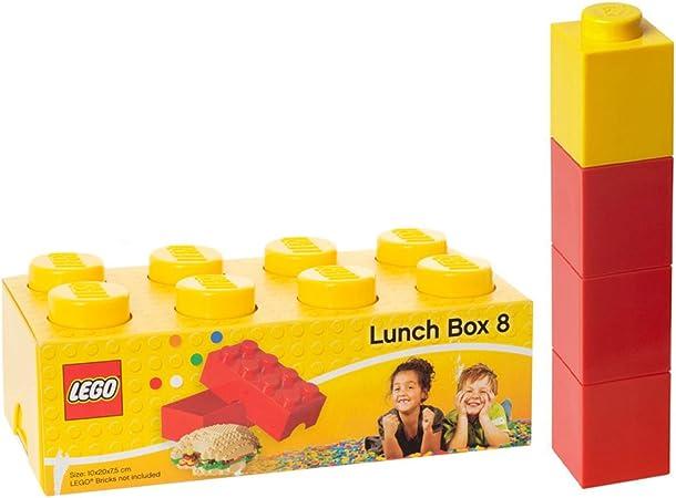 Lego - Amarillo de ladrillos caja del almuerzo y botella cuadrado: Amazon.es: Hogar