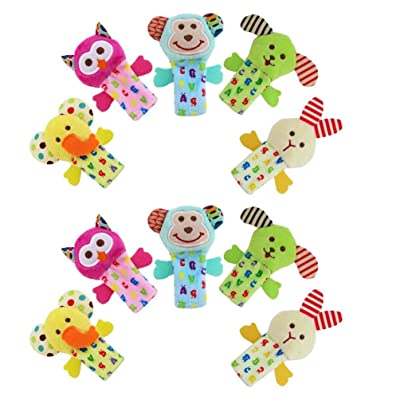 Toyvian 10PCS Plush Finger Puppets Animal Finger Toy for Children Shows Playtime Schools Animal Doll for Kindergarten: Toys & Games