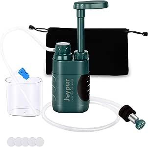 Joypur - Filtro de agua portátil para bomba de acampada (0,01 ...