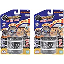 """PlayTape Railroad Series 2"""" x 15' - Road Car Tape Great for Kids, Sticker Roll for Cars and Train Sets, Stick to Floors and Walls, Quick Cleanup, Children Toys Birthday Gift"""