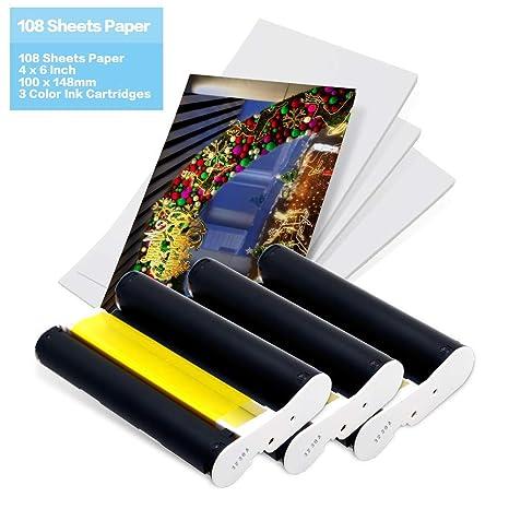 Compatible Canon foto papel tinta Set KP-108IN Recambio compatible ...