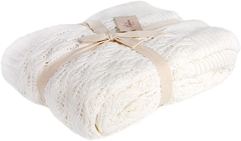 De punto manta de color crudo 100% algodón manta sofá sofá funda ...