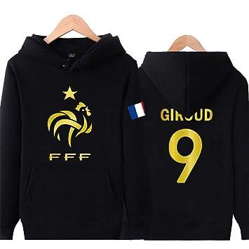 WARMHEAT Griezmann Camiseta Fútbol Suéter de la Camiseta de la Copa del Mundo de fútbol francés 2018 Grueso Caliente,Giroud,2XS(120-135CM): Amazon.es: ...