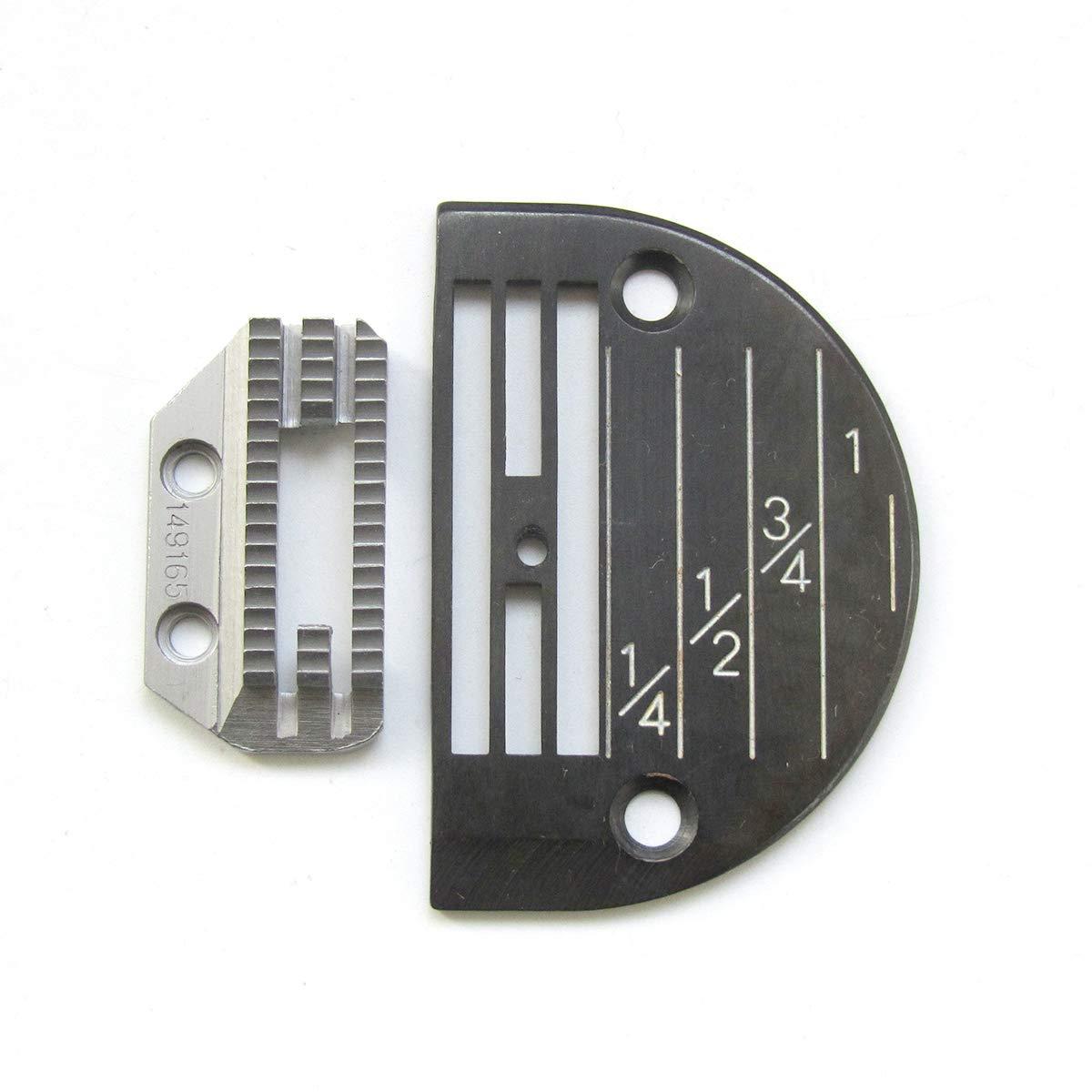 KUNPENG - # 149165 + 143169LGB 1conjunto placa de aguja Y máquina de coser diente apto para Singer 31-15 Máquina pesada de COSER TRABAJO: Amazon.es: Hogar