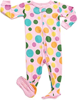 DinoDee Baby Girls Footed Pajamas Sleeper 100% Cotton Kids Pjs (6 Months-5 3936192eb