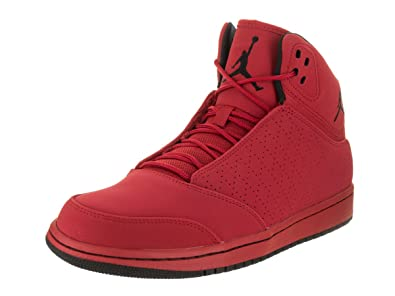 3aee9605694e Nike Jordan Men s Jordan 1 Flight 5 Gym Red Black Basketball Shoe 10.5 Men  US