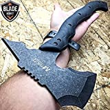 15'' STONEWASH COMBAT TOMAHAWK THROWING AXE BATTLE Hatchet Hunting EcoGift Nice Knife with Sharp Blade Tactical- Great For Fun And Practical Use