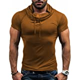 CHIC-CHIC Men's Casual Short Sleeve T-Shirt Tank Tops Sports Athletic Running Jogging Gym Fitness Exercises Top