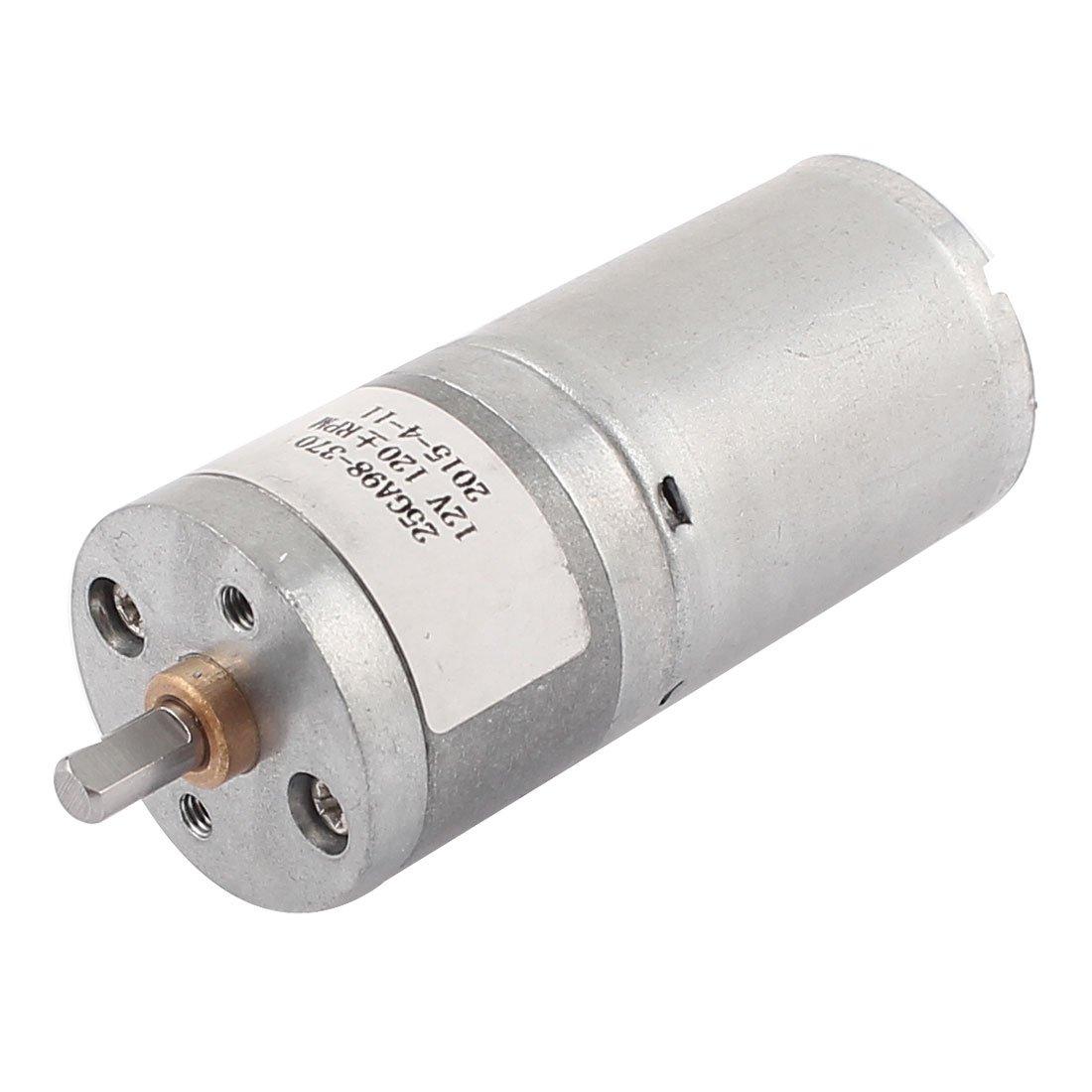 sourcingmap® Motor de engranajes cilíndricos de soldadura DC 12V 120rpm baja velocidad 2 terminal: Amazon.es: Electrónica