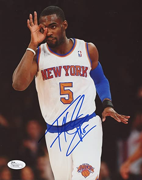 1e904619be2 Image Unavailable. Image not available for. Color: TIM HARDAWAY JR SIGNED  NEW YORK KNICKS ...