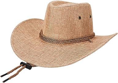 Gysad Cool Sombrero Vaquero Transpirable y cómodo Cowboy Hat ...