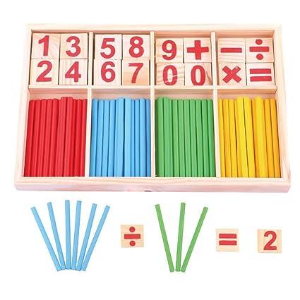 Tininna Math Manipulatives Wooden Counting Sticks Nuestra Casa