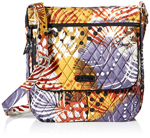 Vera Bradley Double Zip Mailbag, Painted Feathers
