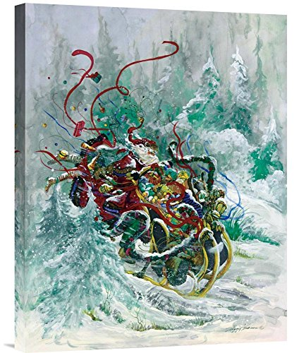 Global Gallery Budget GCS-119649-1824-142 Peggy Abrams Windswept Toys Gallery Wrap Giclee on Canvas Print Wall Art