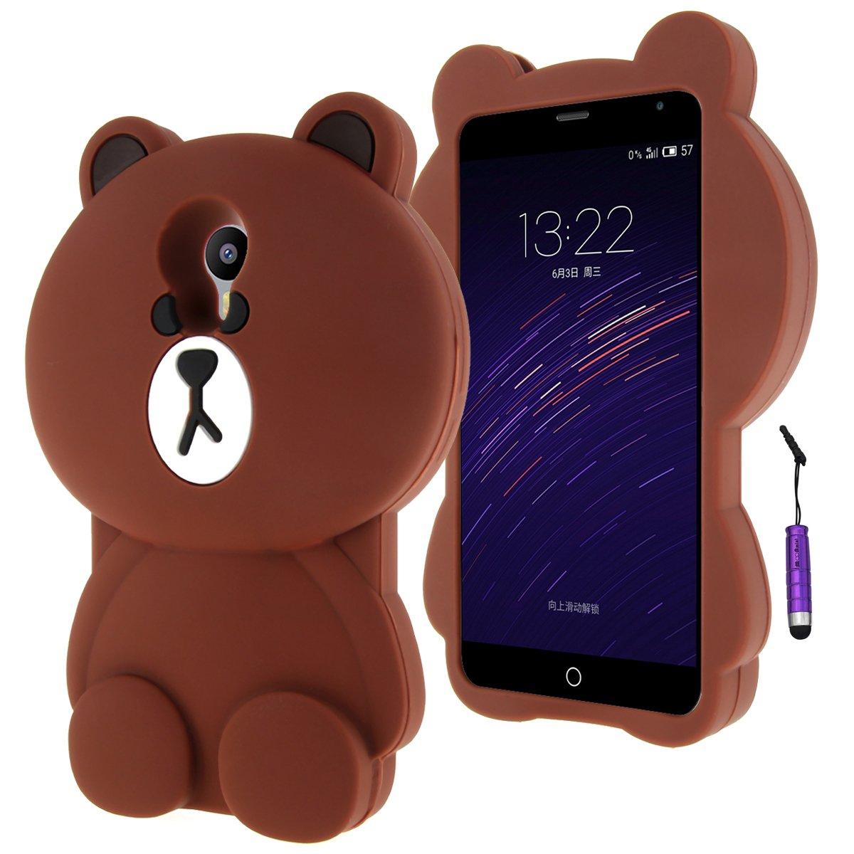 Meizu M2 Note Funda Case, Moonmini® 3D encantador Bear Funda ...
