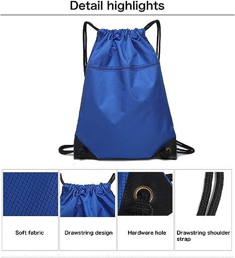 EQLEF Bolsa Cuerdas Sports PE Bag with Zipper Mochila Ligera de nataci/ón para Mujeres y Hombres de Sackpack para Viajes y Escuela