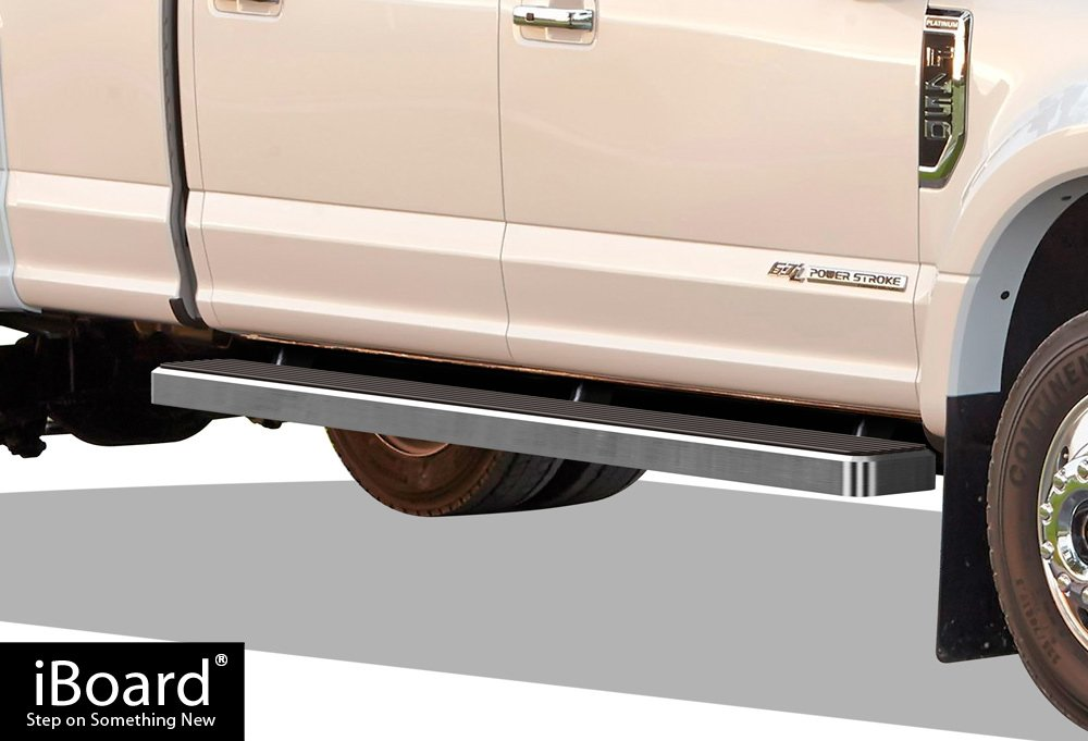 Nerf Bars | Side Steps | Side Bars APS iBoard Running Boards 6 Black Custom Fit 1999-2016 Ford F250 F350 Super Duty Crew Cab
