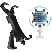 IPOW 360 Degree Rotatable Break-Resistant iPad Tripod Mount Adapter, Universal Tablet Clamp Holder Fits Ipad Air, Pro…