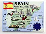fridge magnet world - Spain EU Series Souvenir Fridge Magnet 2.5