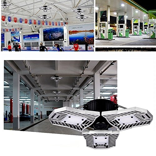 LED Garage Light, 60W E26/E27 6000LM Deformable Ceiling