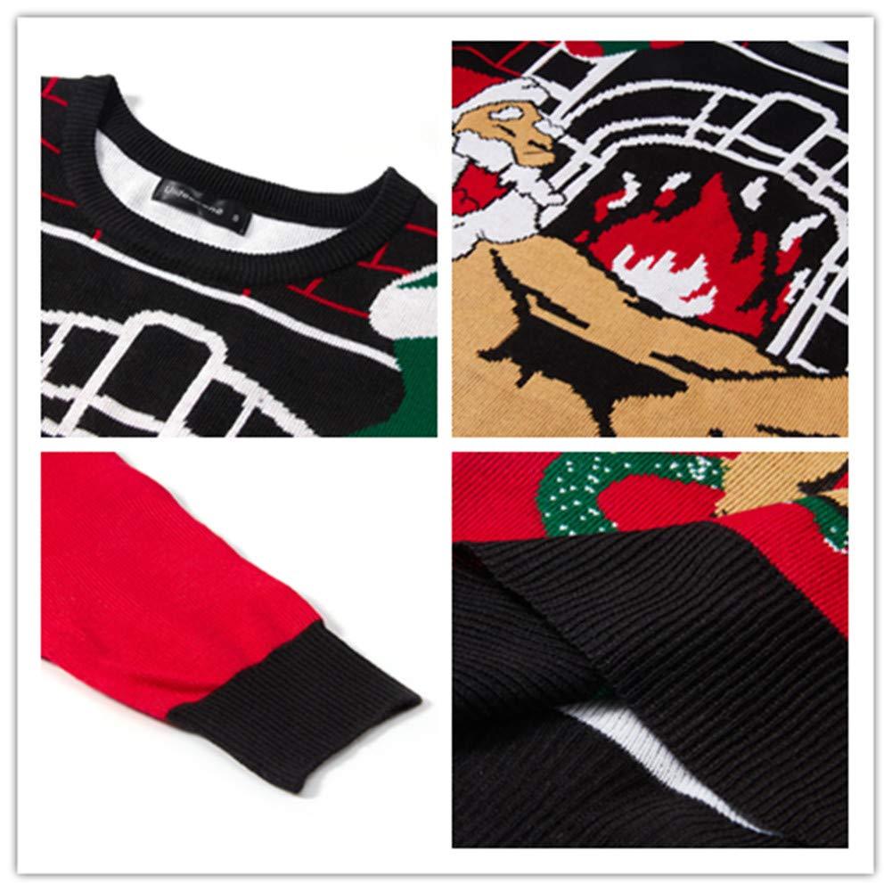 Uideazone Styles Unisex Santa Sweatshirt Ugly Christmas Sweater
