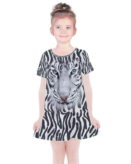 PattyCandy Girls Fun Zoo Animals Sleeveless Dress,Cotton
