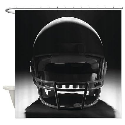CafePress Football Helmet Shower Curtain Decorative Fabric 69quot