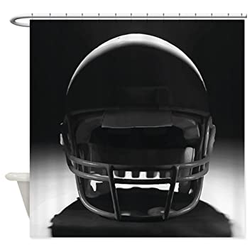 CafePress   Football Helmet Shower Curtain   Decorative Fabric Shower  Curtain