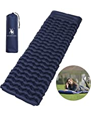 Inflatable Camping Mat - MNHOME Ultralight Air Sleeping Pad Wave-Shape Inflatable Camping Mattress as Tent Pads for Outdoor Traveling