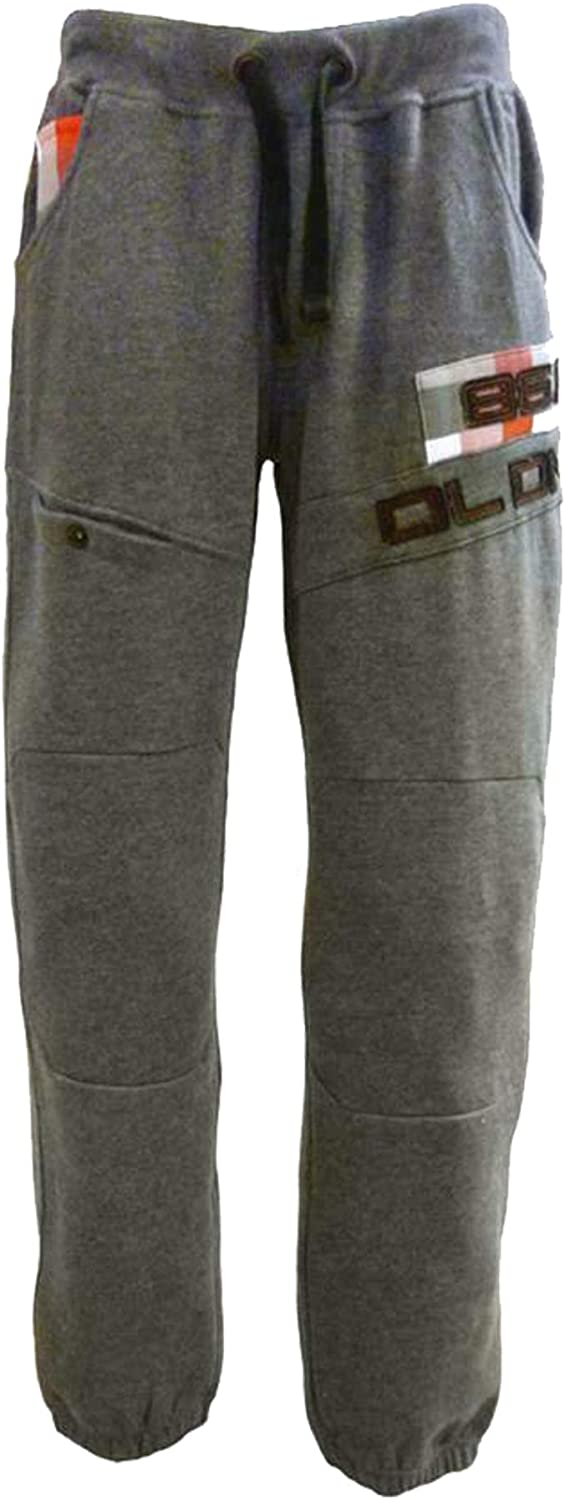 D/&L Boys Kids Jogger Trousers DL Project 86 in Grey Black and Dark Grey Colours