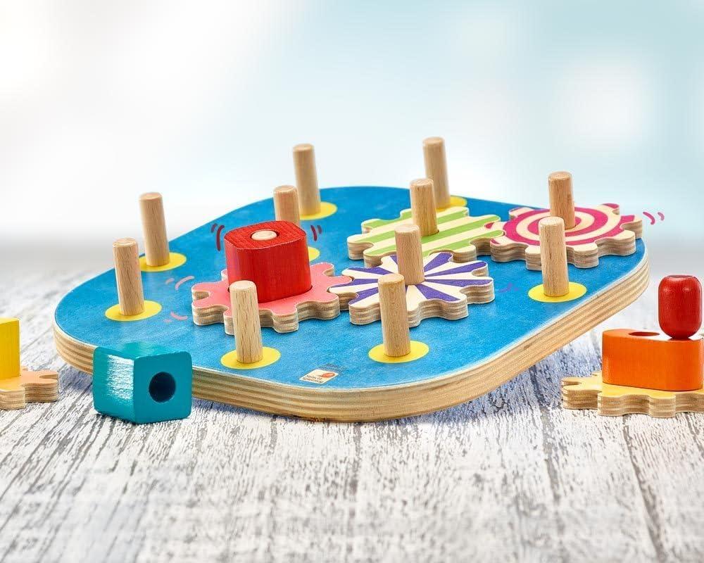 Selecta Spielzeug Spintivity Motorikbrett Kleinkindspiel Kleinkindspielzeug 21cm