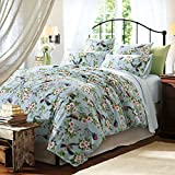 queen quilt birds - Brandream Floral Bedding Set Pastoral Style Duvet Cover Set with Colorful Flowers and Birds 3pcs Bedding Collections,Queen Size