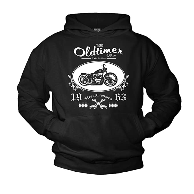 Amazon.com: MAKAYA Motorcycle Mens Hoodie xs650 Twin Bobber Sweatshirt: Clothing