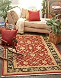 Cheap A2Z Rug Heritage Collection Persian Traditional Area Rug Red – 3′ 3 x 5′ 3 FT High Class Living Dinning Room & Bedroom Rugs, Oriental Floor and Carpets