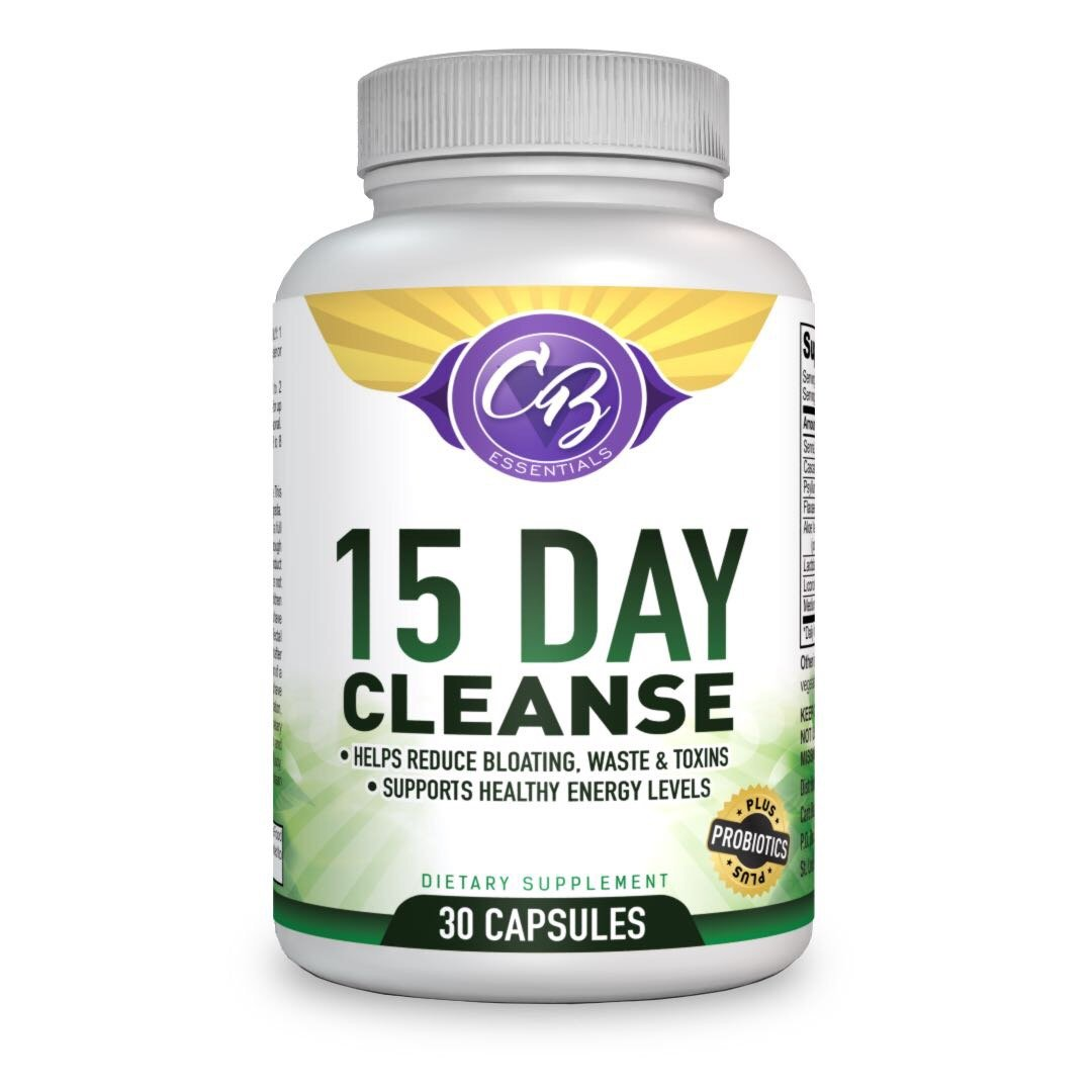 15 Day Detox Colon Cleanse Weight Loss Supplement with Probiotics, Increases Mental Clarity & Energy, Flush Out Harmful Gut Bacteria, Relieves Bloating & Constipation