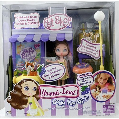 Yummi-Land Soda Pop Girls - Pet Shop with Exclusive Gina Grapelina Doll