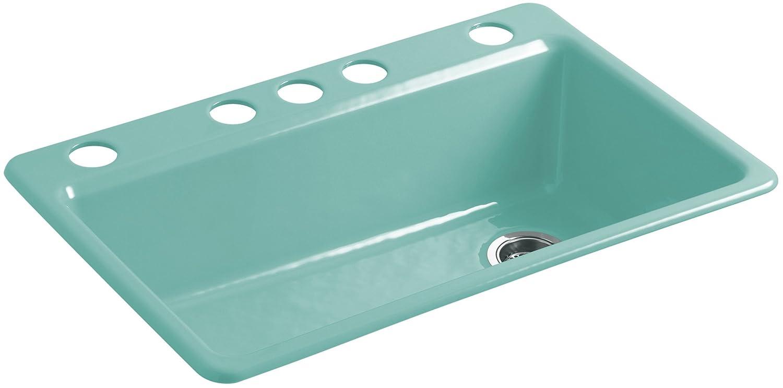 KOHLER K-5871-5UA3-J16 Riverby Under-mount Single-bowl Kitchen Sink ...