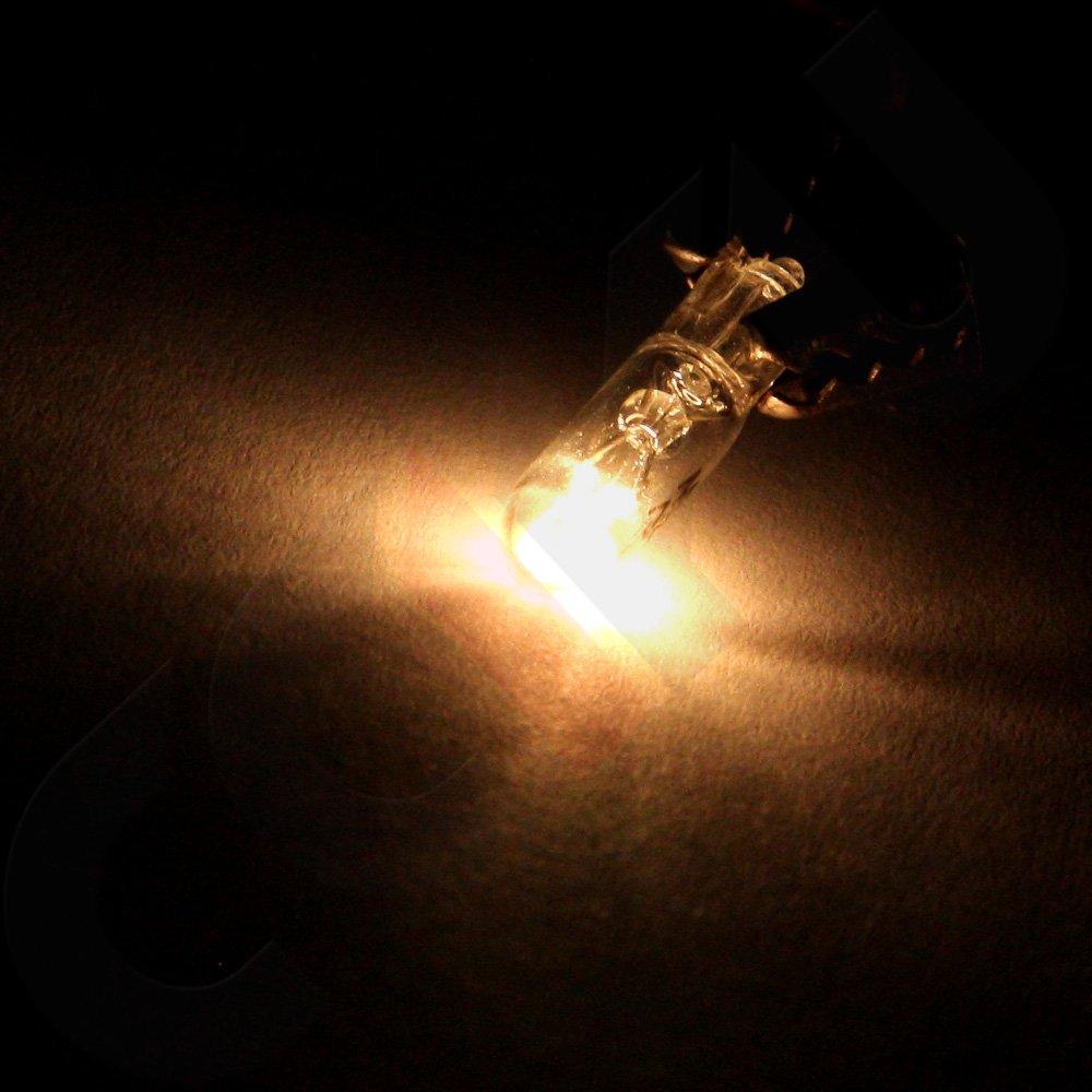White cciyu T5 Halogen Light Bulbs 74 Light Lamp Instrument Panel Dash Gauge Cluster Light,50Pack