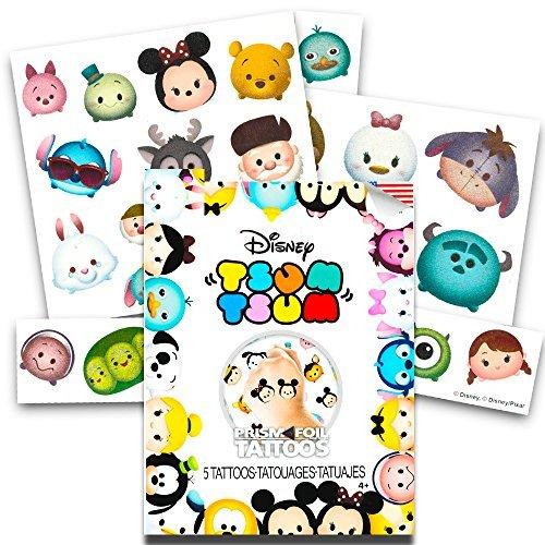Disney Tsum Tsum Tattoo Party Favors Set -- Pack of 25 Jumbo Prism Temporary Tattoos (Tsum Tsum Party Supplies)