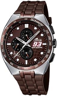 Lotus Hombre Reloj de Pulsera analógico Cuarzo Acero Inoxidable ... e797cd440fd2