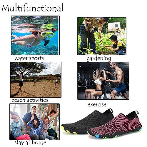 Lxso Men Women Water Shoes Quick-Dry Swim Shoes Lightweight Beach Aqua Socks With Drainage Holes Rose Pkylzt0s